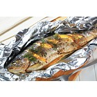 Baked trout with lemon and dill