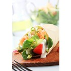 Salmon wrap sandwich