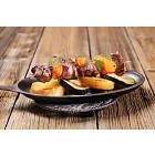 Beef or venison kebab with oranges