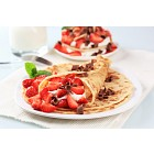 Crepes with cheese and strawberries