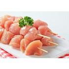 Raw chicken skewers