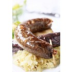 Blood sausage and white pudding with sauerkraut