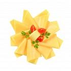 Sliced cheese arrangement