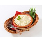 Bowl of Bryndza cheese and fresh chives