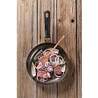 Pan frying meat and onion