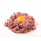 Raw soy meat and egg yolk