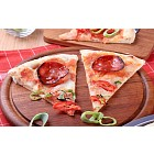 Cheese and salami pizza