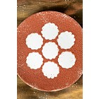 Cocoa powder on plate