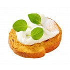 Mini toast with cream cheese