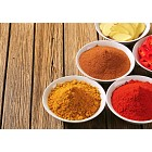 Curry powder, paprika,  ground cinnamon, sliced ginger root and