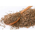 pile and spoon of caraway seeds