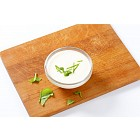 Bowl of creamy salad dressing