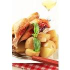 Roast chicken and potatoes