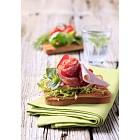 Ham and salami on toast