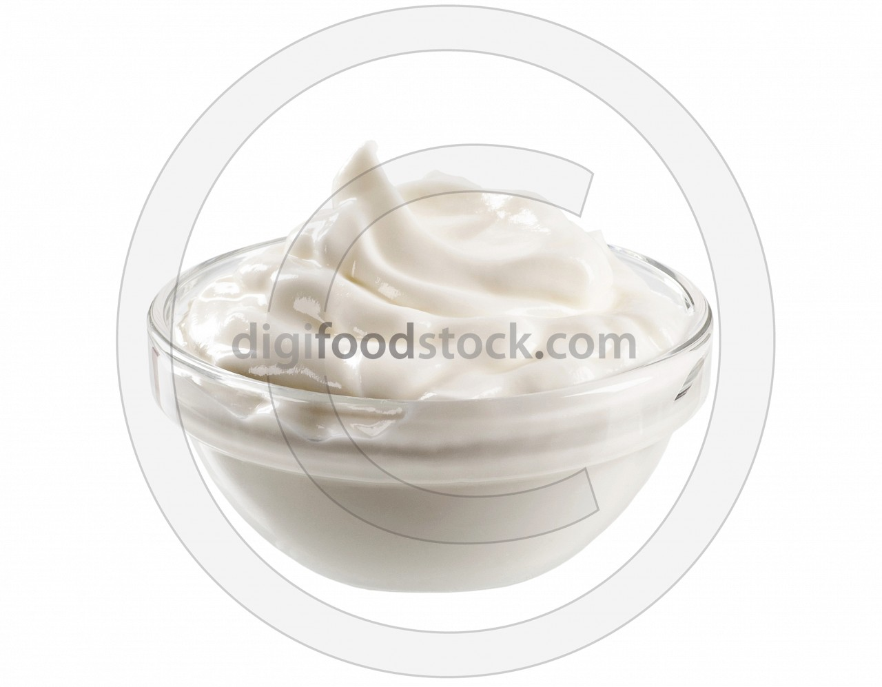 Swirl of smooth cream